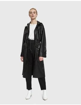 Gus Croc Embossed Vegan Leather Coat by Nanushka