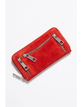 Ora Washed Leather Zip Wallet by Free People