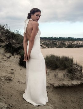 Beach Wedding Dress,  Silk Wedding Dress, Bohemian, Backless Wedding Dress, Boho, Rustic Wedding, Simple Wedding Dress    Valeria Dress by Seni Dey