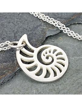 Openwork Nautilus Cutout Necklace   925 Sterling Silver by Amazon