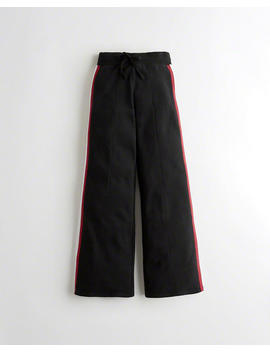 ultra-high-rise-wide-leg-fleece-track-pants by hollister