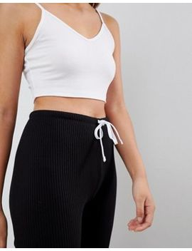 Asos Design Slim Joggers In Rib by Asos Design