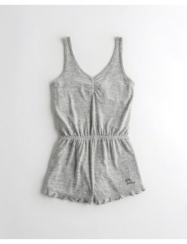 Lettuce Edge Sleep Romper by Hollister