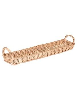 Household Essentials   Long Wicker Bread Basket   Natural by Household Essentials