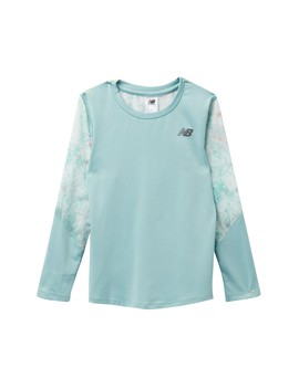 Long Sleeve Performance Top (Little Girls) by New Balance
