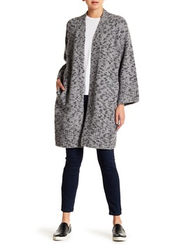 Marled Knit Wool Blend Cardigan by Vince