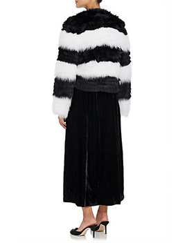 Striped Fox Fur Jacket by Barneys New York