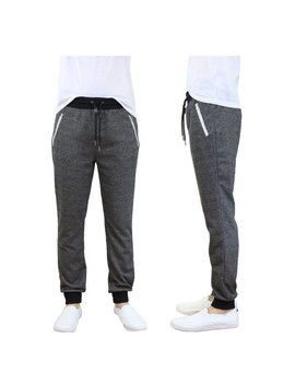 Mens French Terry Jogger Sweatpants With Zipper Pockets Slim Fit by Galaxy By Harvic