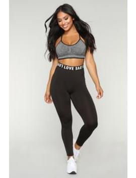 Love Me Foreva Active Leggings   Black by Fashion Nova