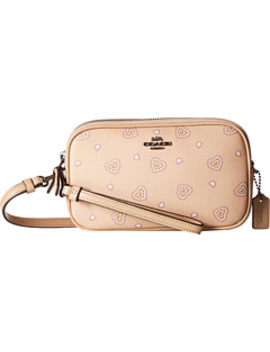 Crossbody Clutch In Heart Print by Coach