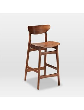 Classic Café Walnut Bar + Counter Stools by West Elm