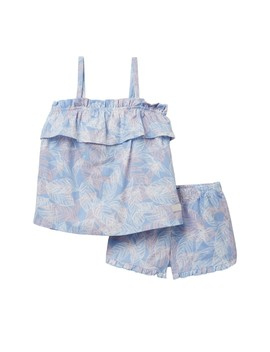 Matching Top & Short Set (Toddler Girls) by 7 For All Mankind