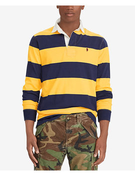 Men's Classic Fit Cotton Iconic Rugby Shirt by Polo Ralph Lauren