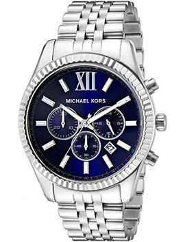 Michael Kors Silver Lexington Watch by Michael Kors