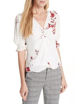 Anevy Floral Silk Top by Joie