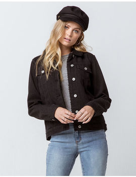 Sky And Sparrow Sherpa Black Womens Denim Jacket by Sky And Sparrow