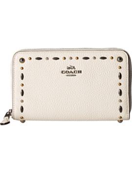 Medium Zip Around Wallet With Prairie Rivets by Coach