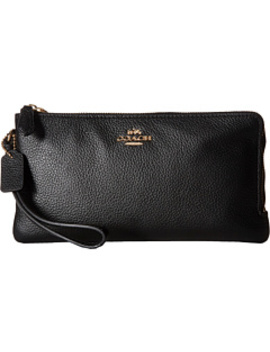 Polished Pebbled Double Zip Wallet by Coach