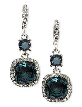 Cushion Stone And Crystal Drop Earrings by Givenchy