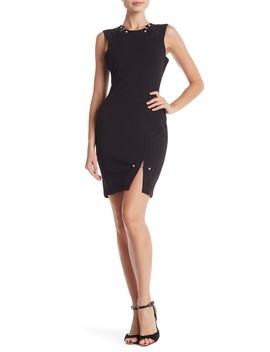Pearl Embellished Sleeveless Dress by Bebe