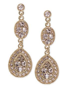 Earrings, Crystal Linear Teardrop by Givenchy