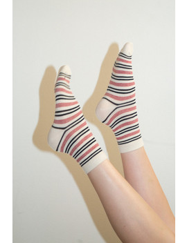 Pink Black And White Socks by Brandy Melville