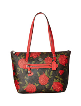 Camo Rose Taylor Tote by Coach