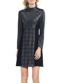 Glen Plaid Shift Dress by Vince Camuto