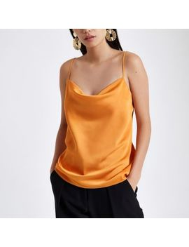 Orange Cowl Neck Cami Top by River Island