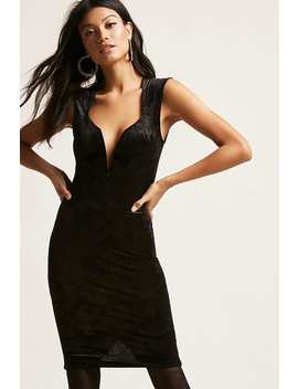 Velvet Baroque Bodycon Dress by Forever 21