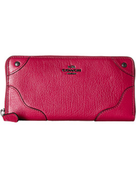 Grain Leather Mickie Accordion Zip by Coach