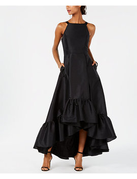 Ruffled High Low Gown by Adrianna Papell