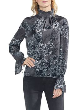 Etched Woodland Floral Blouse by Vince Camuto