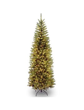 National Tree Pre Lit 6 1/2' Kingswood Fir Hinged Pencil Artificial Christmas Tree With 250 Clear Lights by National Tree