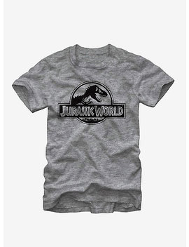 Jurassic World Grey Logo T Shirt by Hot Topic