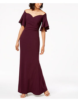 Sweetheart Off The Shoulder Gown by Calvin Klein