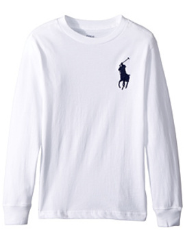 Cotton Long Sleeve T Shirt (Little Kids/Big Kids) by Polo Ralph Lauren Kids