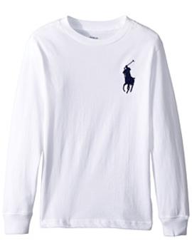 Cotton Long Sleeve T Shirt (Little Kids/Big Kids) by Polo Ralph Lauren Kids