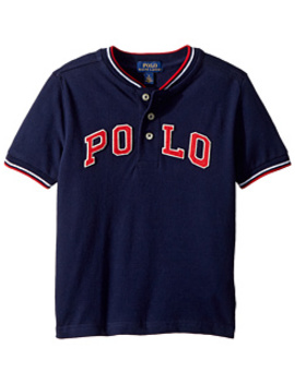 Cotton Mesh Henley Shirt (Little Kids/Big Kids) by Polo Ralph Lauren Kids