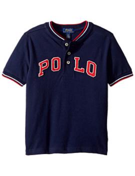 Cotton Mesh Henley Shirt (Little Kids/Big Kids) by Polo Ralph Lauren Kids