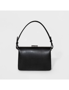 Frame Shoulder Satchel Handbag   A New Day™ Black by A New Day™