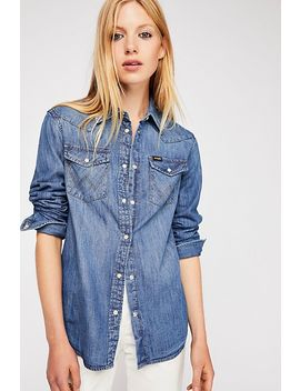 Wrangler Western Denim Shirt by Free People