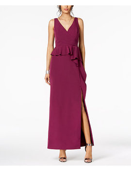 Ruffled Peplum Gown by Vince Camuto