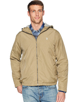 Heather Hooded Windbreaker by U.S. Polo Assn.