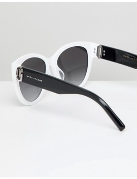 Marc Jacobs 181/S Square Sunglasses In White by Marc Jacobs
