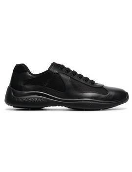 Black America's Cup Lowtop Sneakers by Prada