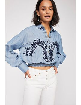 Way With Words Chambray Top by Free People