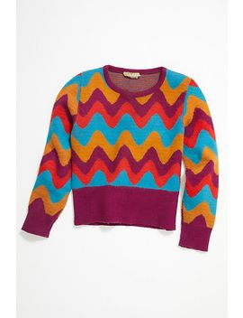 Vintage 1960s Chevron Sweater by Free People