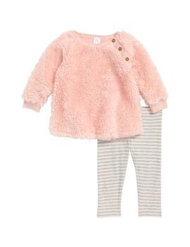 Faux Fur Tunic & Leggings by Nordstrom Baby
