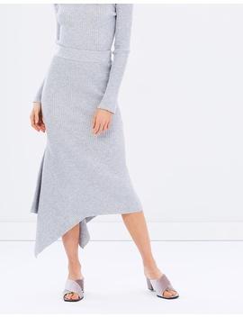 Zoe Asymmetric Knit Skirt by Friend Of Audrey